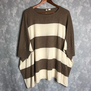Anthropologie Moth oversized striped sweater